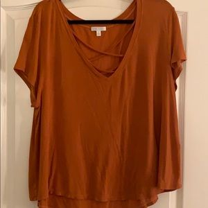 Orange casual T-shirt